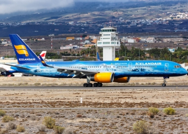 Icelandair Boeing 757 at Tenerife Airport TFS