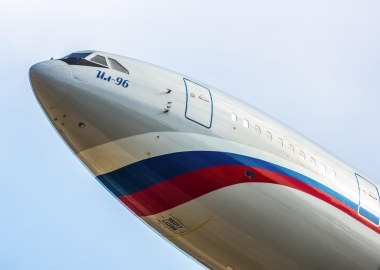 ilyushin il-96-300 of the russia state transport company aerotime