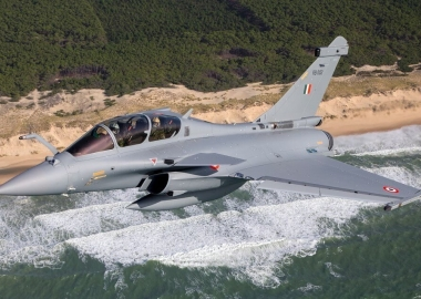 First Indian Rafale fighter jets take off for Pakistan border