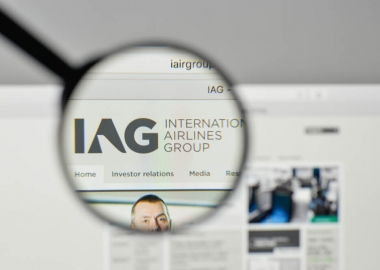 International Airlines Group logo on their website