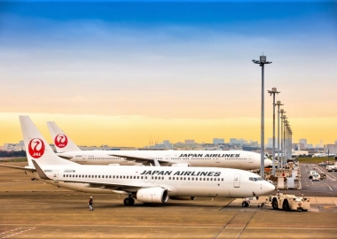 JAL plane at Haneda International Airport