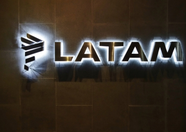 LATAM Airlines logo near its lounge