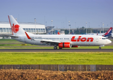Lion Air Boeing 737 at Jakarta Airport CGK Indonesia