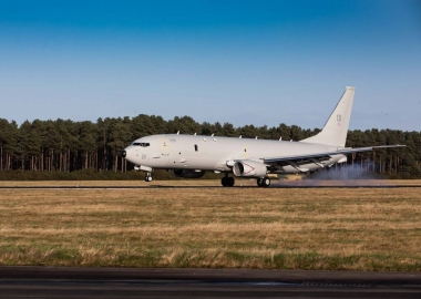 First RAF P-8A Poseidon touches down in Scotland