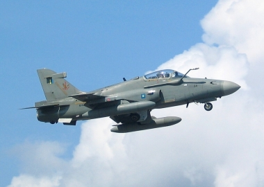 Indonesian Air Force Hawk 209 crashes in residential area