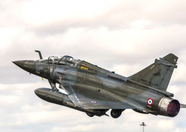 Crash of French Mirage 2000D, two pilots dead