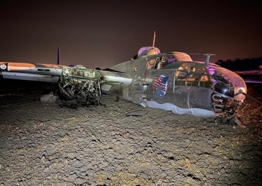 Two injured in B-25 Mitchell iconic WW2 bomber crash