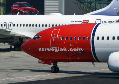 Norwegian Air Shuttle Boeing 737 Aircraft at Oslo Airport OSL