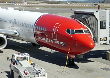 Norwegian Air Shuttle Boeing 737 at Oslo Airport OSL