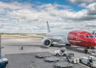 Norwegian Air Shuttle Boeing 787 parked at Oslo Airport OSL