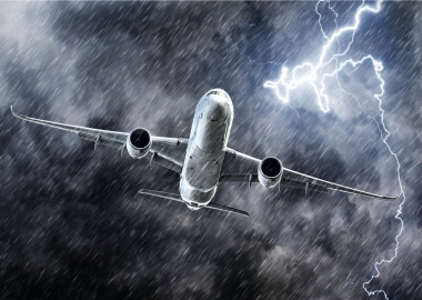 How dangerous is a lightning strike for an aircraft?