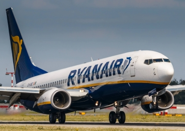 Ryanair Boeing 737 departing an airport