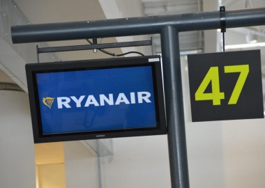 Ryanair checkin board at Faro, Portugal