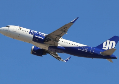 GoAir Airbus A320neo rejects takeoff after engine catches fire