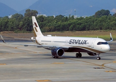 Starlux Airline A-321 Neo in Danang International Airport