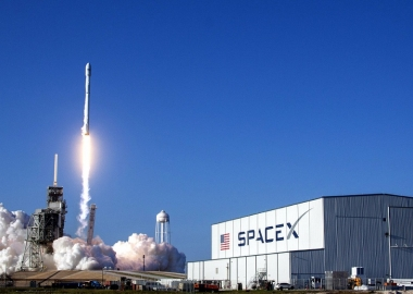 SpaceX halts first commercial launch of updated Falcon 9 rocket