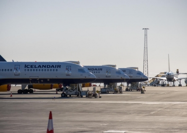Stored Icelandair Boeing 757 aircraft at Keflavik Airport KEF