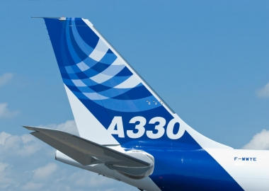Tail of the Airbus A330 during Singapore Airshow 2010