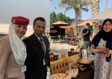 Couple's journey: from Emirates cabin crew to honey business