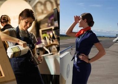 Barista turned cabin crew