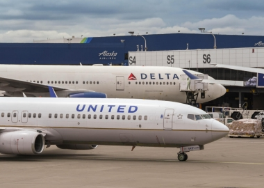US legacy carriers United Delta Airlines in Seattle