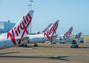 Virgin Australia aircraft at Sydney Airport SYD