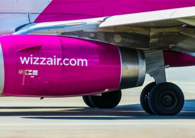 Wizz Air Airbus A320ceo engine at Warsaw Chopin International Air