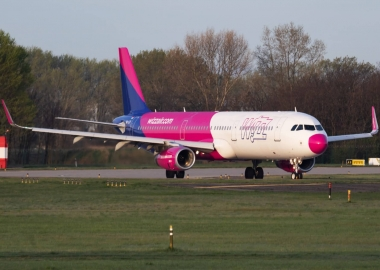 Wizz Air Airbus A321 at Budapest Airport BUD