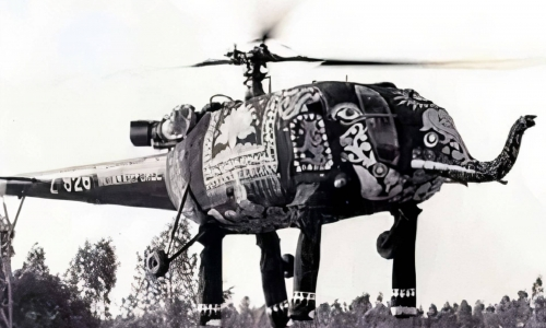 Indian elephant helicopter