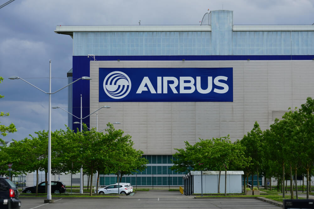 Airbus factory in Toulouse, France