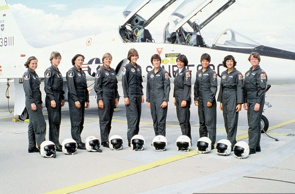 All female UPT Class 77-08 of Williams Air Force Base, May 1977.